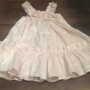 Halabaloo size 4t pink shiny floral dress